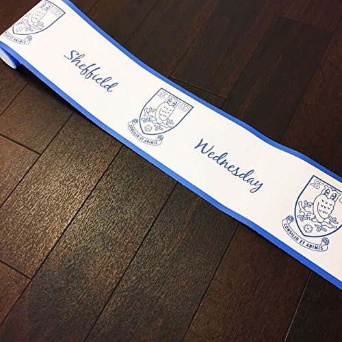 Price comparison product image Sheffield Wednesday wallpaper border football official merchandise white blue