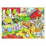 Goki 57613 - Einlegepuzzle - Auf der Baustelle