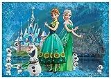 Fototapete Disney Frozen Anna & Elsa Mädchen Kinder Wand Wandbild (2959ve), 152cm x 104cm (WxH)