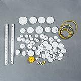 laomao 75unidades Plástico Engranajes Engranaje Juego zahnr superior Robot piezas Accesorios DIY