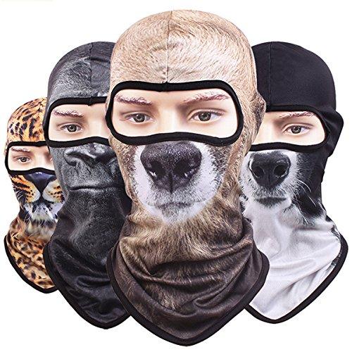 Winter-Maske Faway 3D Tier Sturmhaube Nackenhaube für Motorrad Radfahren Weihnachten Party