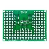 Diymore 5PCS Doble Cara Junta de PCB Doble Cara Tarjeta Placa Prototipo Tablero de Circuito del Universal para Estañado para Soldadura ESP8266 para Ar