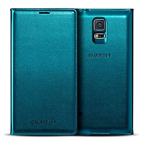 Etui Folio Galaxy S5 Flip Wallet Cover Origine Samsung - Bleu Menthe