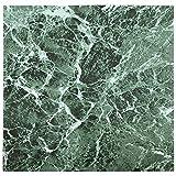 28x mattonelle di pavimento in vinile–Adesivo–Cucina/Bagno Adesivi–Nuovo–Tinta unita Verde Marmo 192