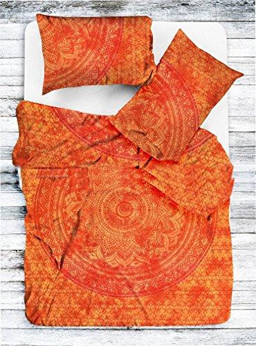 Marusthali Mandala Tie Dye Ombre Quilt Tröster Psychedelic Cover Single Bettwäsche Throw indischen Bettbezug & Kissen Case böhmischen Throw Bett in einer Tasche Set mit Bettlaken