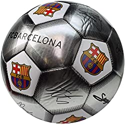 F.C. Barcelona Official FCB Skill Ball Signature Special Edition -White/Silver by F.C. Barcelona
