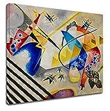 Bild Kandinsky Weißes Zentrum - WASSILY KANDINSKY White Center Leinwanddruck auf Leinwand mit oder ohne Rahmen - wählen Sie die gewünschte Größe von - cm 50 bis 130 cm Breite (DRUCKEN AUF CANVAS (OHNE RAHMEN), CM 130X114)
