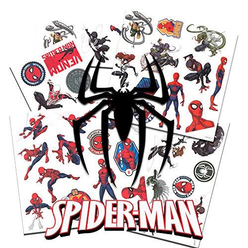MARVEL - Spiderman - 50 temporäre Tattoos - verschiedene Motive - aus USA - Versand aus Deutschland -