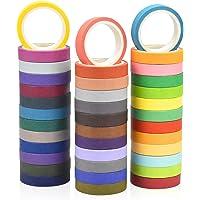 Pinsheng Washi Tape, 40 Rouleaux de Washi Masking Tape Coloré, Ruban Adhésif en Washi pour l'artisanat de Bricolage, les…