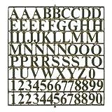 Buchstabensatz 6 mm Messing