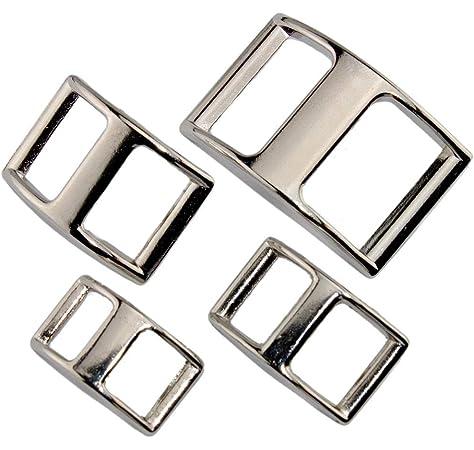 stabil Verschiedene Gr/ö/ßen rostfrei Schiffchenschnalle aus vernickeltem Zinkdruckguss LENNIE Conwayschnalle Silber