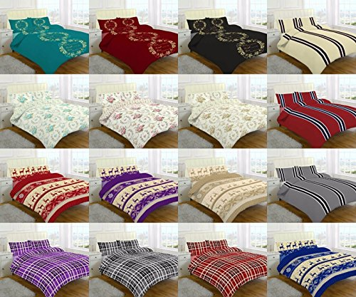 flannelette-100-brushed-cotton-duvet-quilt-cover-sets-with-free-pillowcases-christmas-gift-idea-blac