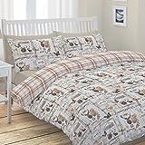Catherine Lansfield CL Stags Collectables - Juego de funda nórdica para cama de 105 cm
