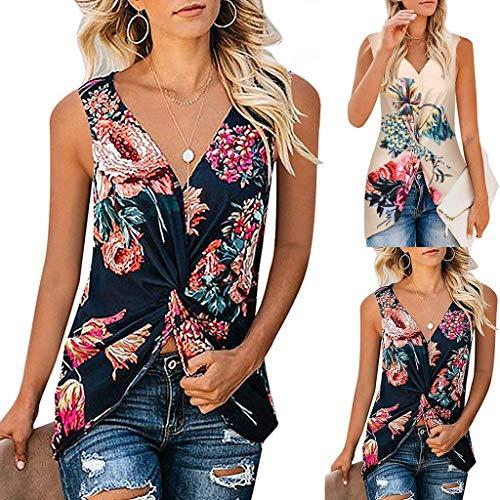 Yvelands Damen Unterhemd Pure Color Tank Tops Geraffte Weste Lose Beiläufige Bluse Shirts(Khaki,XL) - Schwarz Pure Cashmere Damen-handschuhe