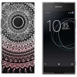 yayago Schutzhülle für Sony Xperia XA1 Hülle Mandala Design Transparent