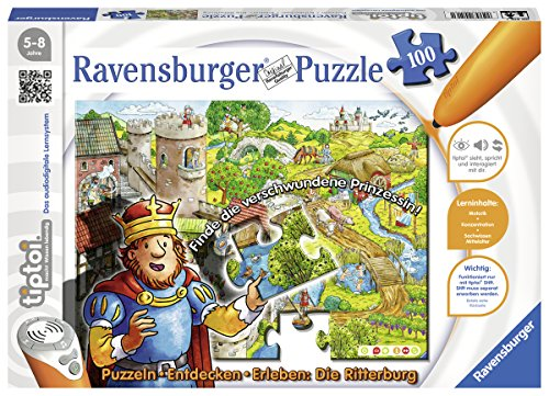 Ravensburger 00516 - tiptoi Puzzeln, Entdecken, Erleben: Die Ritterburg