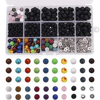 100pcs 8mm Resin Spacer Perlen Farben Kunststoff Perlen Charms für Schmuck