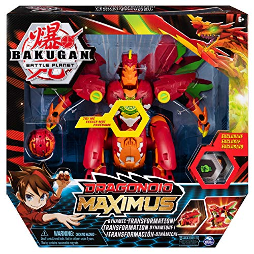 Bakugan 6051243 Dragonoid Maximus 20.3 cm Transforming Figure with Lights and Sounds, for Ages 6 and Up, Multicolour