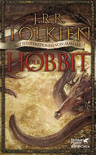 Buchcover Der Hobbit: oder Hin und zurück. Mit Illustrationen von Alan Lee.