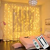 Innoo Tech LED String Light USB Curtain Light 300 LEDs IP65 Waterproof 8 Modes Light String Warm White for Party Bedroom Deco