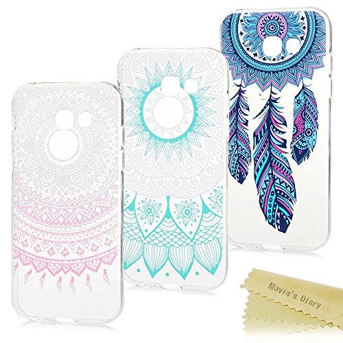 3X Funda Silicona para Samsung Galaxy A5 2017, Gel TPU Ultra Slim - Mavis's Diary Suave Cover Carcasa Case Bumpara Shock-Absorción y Anti-Arañazos - Funda Hecho para Samsung Galaxy A5 2017