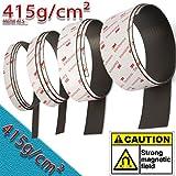 Smagnon NEODYM Magnetband selbstklebend mit 3M Kleber Kleberücken hält mehr als 415g/cm² (Breite 15mm)