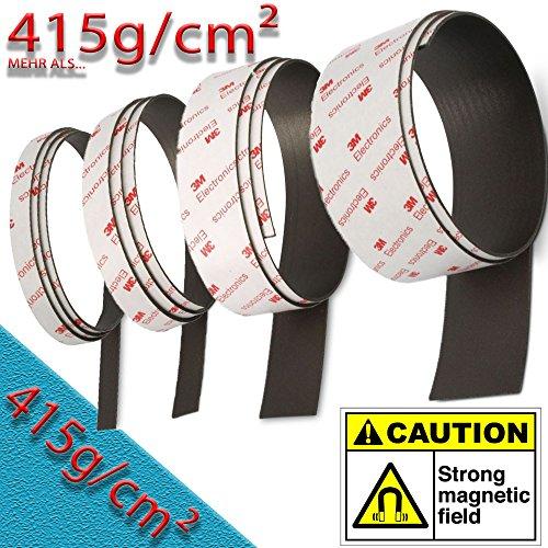 Smagnon NEODYM Magnetband selbstklebend mit 3M Kleber Kleberücken hält mehr als 415g/cm² (Breite 6mm)