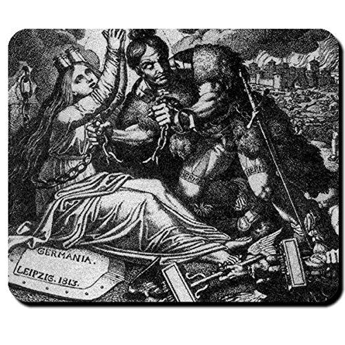 Hermann Germania Karl Ruß 1818 Biedermeier Epoche Gemälde Göttin - Mauspad Mousepad Computer...