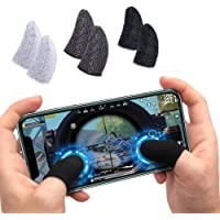 TEQNEQ Thumb & Finger Sleeve for Mobile Game, Anti-Sweat & Breathable for Pubg,Cod,Freefire & Fortnite for Android-iOS…