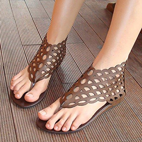 Zormey 2017'S Fashion Frauen Schuhe Gladiator Flats Open-Toe Zehenstegsandalen Gladiator Sandalen Damen Freizeitschuhe Übergrößen 40 4