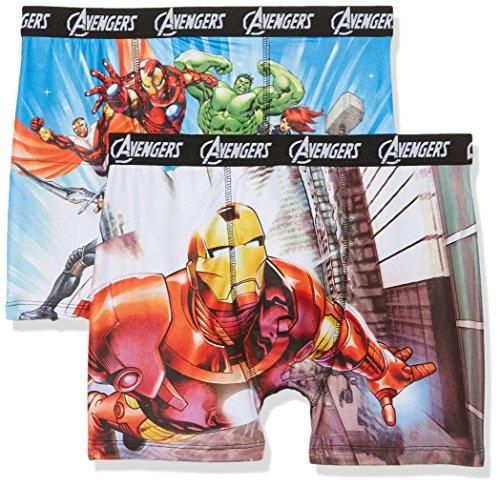 Marvel Herren Boxershorts 2er Pack Mehrfarbig (Multicolor A7)