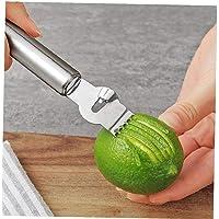 Amoyer Gadgets de Cuisine en Acier Inoxydable de Citron Peeler Zesteur Râpe Citron Orange Agrumes Grater Outils Peeling…
