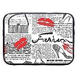 Mode-Elemente Küsse Lippenstift Taschen Schuhe Kleid Laptop-Hülle Tasche - Tablet Clutch...