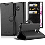 Cadorabo Book Case works with HTC ONE M10 in OXID BLACK –