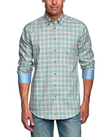 Seidensticker Herren Freizeithemd Regular Fit 385412, Gr. 38, Grün (75 - grün)
