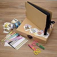 Innocheer Scrapbook con foto Album Storage Box, 80 pagine del mestiere anniversario fai da TE di carta, Album di foto di nozze, con Kit di accessori fai da TE