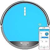 Proscenic 811GB Aspirateur Robot Connecté Wi-Fi, Nettoyeur et Laveur 3 en 1, Nettoyage Efficace sur Programmation, 79mm Ultra-mince, Autonomie de 130 minutes, Compatible avec Alexa, Bordure Magnétique