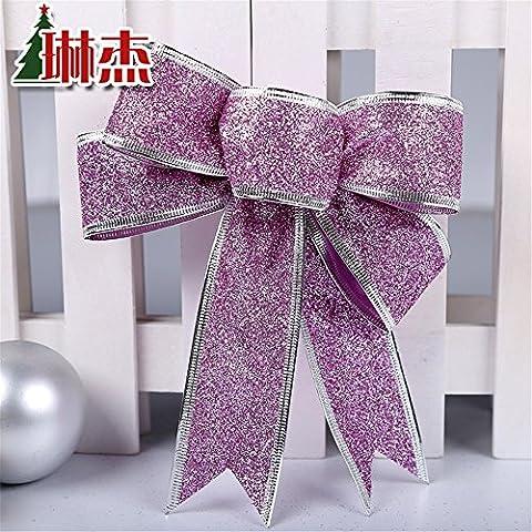 Decoración de Navidad Navidad Navidad Artificial?agujas de pino ratán adornos anillo rosa polvo (18*22cm 1 paquete de