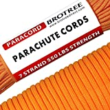 Brotree 550 Paracord 7 Strand Nylon Parachute Cord Type III Mil Spec Survival Cord - 550lb Breaking Strength