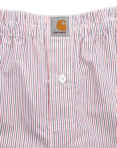 Carhartt Boxer Short Red Addison Stripe Red