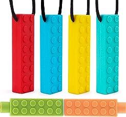 Halskette kauen Beißkette Das beste Beisskette für Autismus, und zahnende Kinder Langelebiges und robustes Kauspielzeug Kau und Beißanhänger für Jungen und Mädchen Halskette für unruhige Kinder