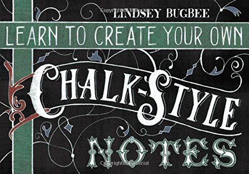 Learn to Create Your Own Chalk Style Notes: Includes White Gel Pens, Chalk Pencils, Black Paper Note Cards and Postcards and an 32 page Instruction Book
