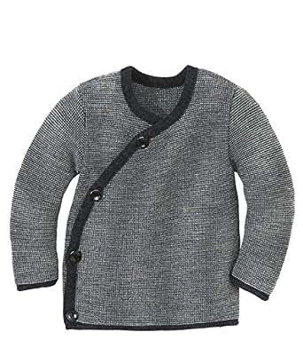 Disana 32591XX - Melange-Jacke Wolle anthrazit/grau (50/56)