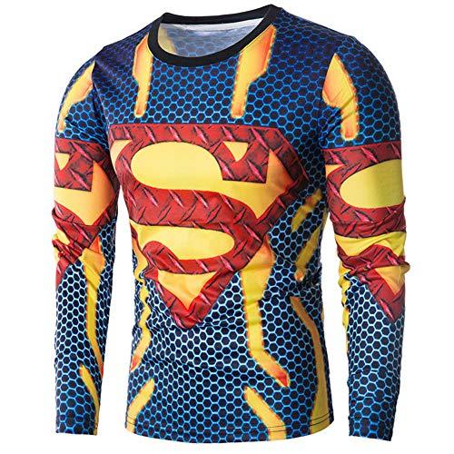 HLH Printemps Et Mode D'éTé Superman Pull à Manches Longues Pull Dt002,comme montré,M