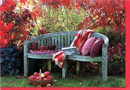 Grusskarte Gemütliche Stunde im Herbst