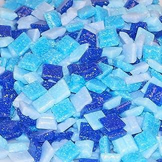 Mixed-store 803015 – Mosaico de vidrio de 20 x 20 x 4 mm, 700 g, mezcla azul
