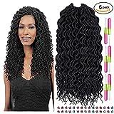 """MYSWEETY 18"""" La Havane Mambo Twist Crochet Braid Synthétique Kanekalon Cheveux Sénégalais tete dans les extensions de cheveux (6-pack)..."""