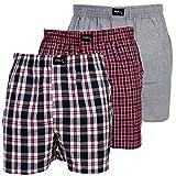 3 Stück MG-1 Herren Webboxer Boxershorts Shorts Boxer viele Farben zur Auswahl, Grösse:S - 4 - 48, Präzise Farbe:Design 1