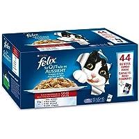 FELIX So gut wie es aussieht, Jumbopack Katzennassfutter, Geschmacksvielfalt vom Land in Gelee mit Huhn, Rind, Ente & Lamm, Jumbo-Pack (44 x 100 g)