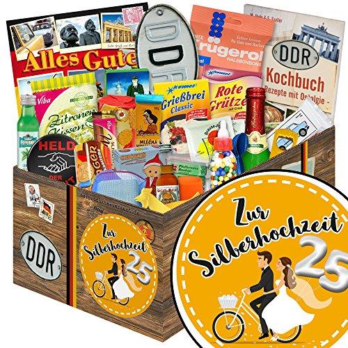 Zur Silberhochzeit   24er Allerlei   Geschenk Set   Zur Silberhochzeit   DDR Paket   Geschenk Silberhochzeit Ehemänner   INKL DDR Kochbuch